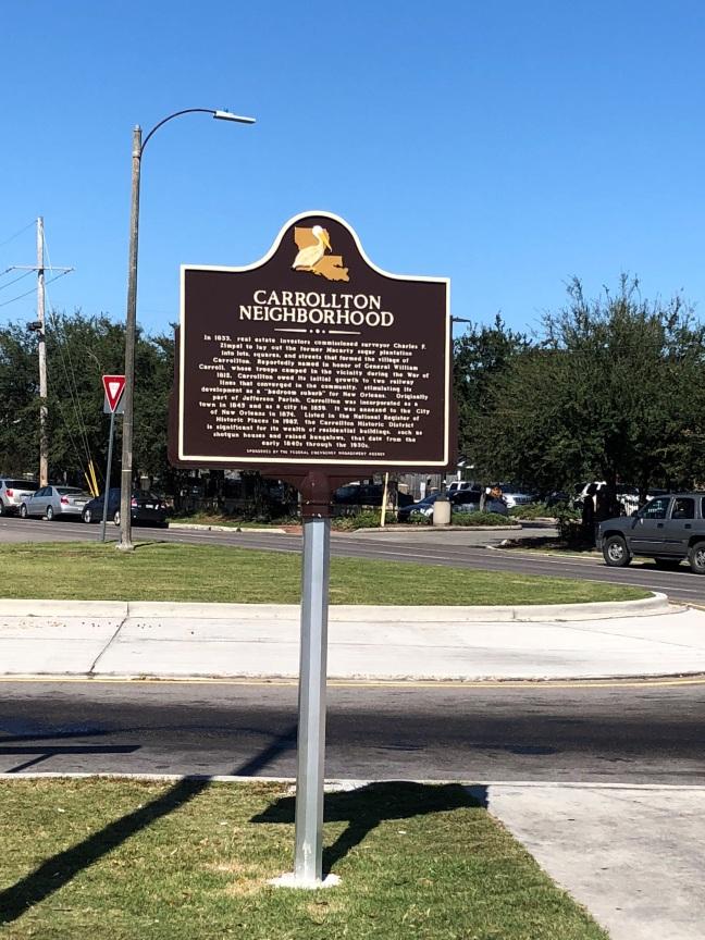Carrollton Neighborhood Historical Marker, New Orleans